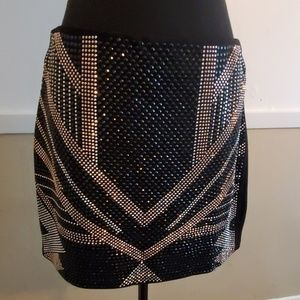 Sparkly studded skirt